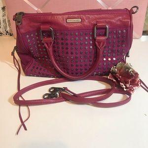 Rebecca Minkoff Pink Studded Satchel